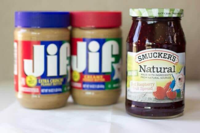 Smuckers Jam with JIF Peanut Butter