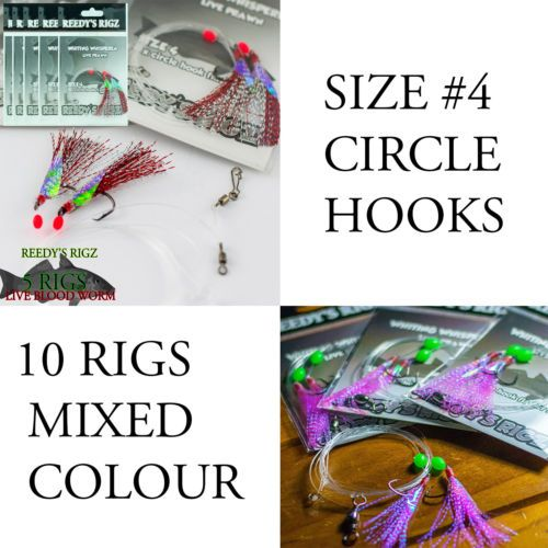 10-whiting-Rigs-Fishing-Rig-Bait-20lb-Flasher-Paternoster-Circle-Hooks-4-Red