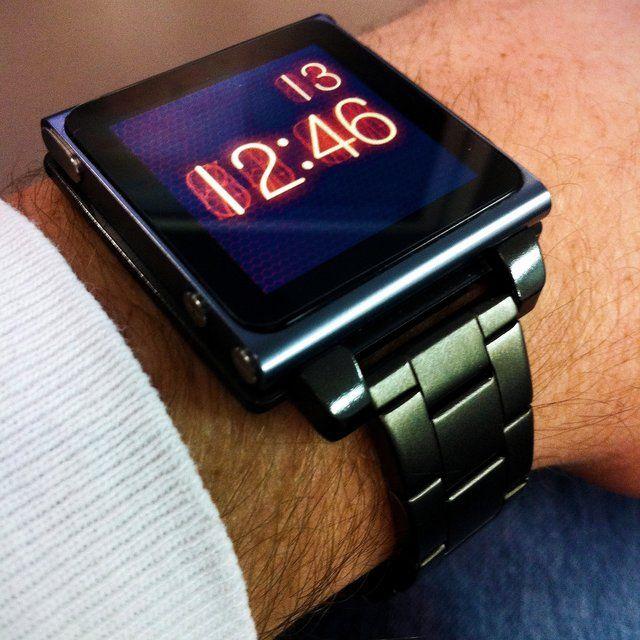 Fancy - Gunmetal Hex Vision iPod Nano Watchband