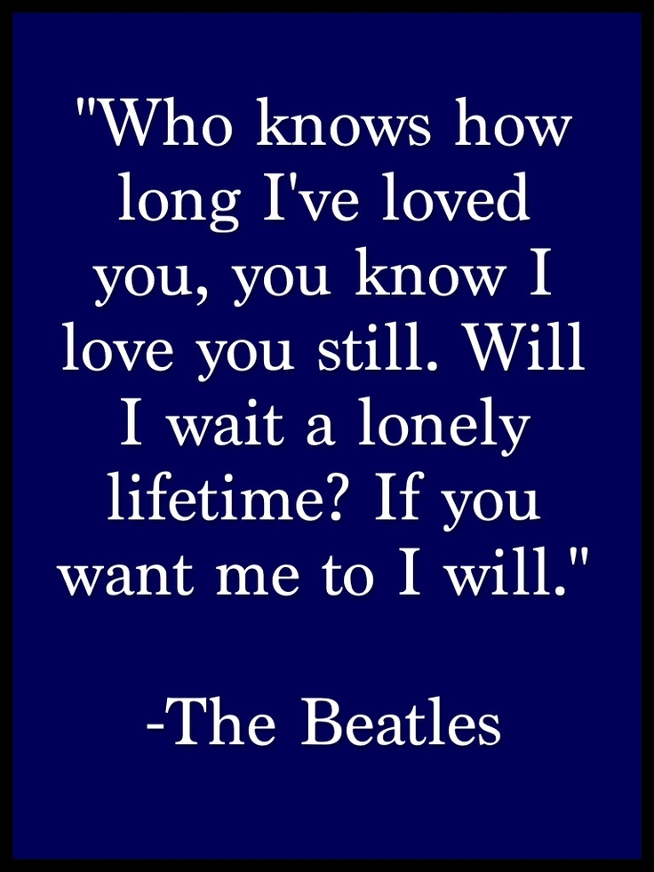 I Will.  The White Album. One of my very favorites...