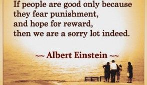 If people are good only because