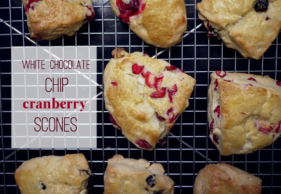 Mmm, great morning-after Thanksgiving breakfast recipe.White Chocolates, Thanksgiving Breakfast, Chocolates Chips, Sweets Treats, Cranberries Scones, White Chocolate Chips, Chips Scones, Breakfast Recipe, Morning'S Afte Thanksgiving