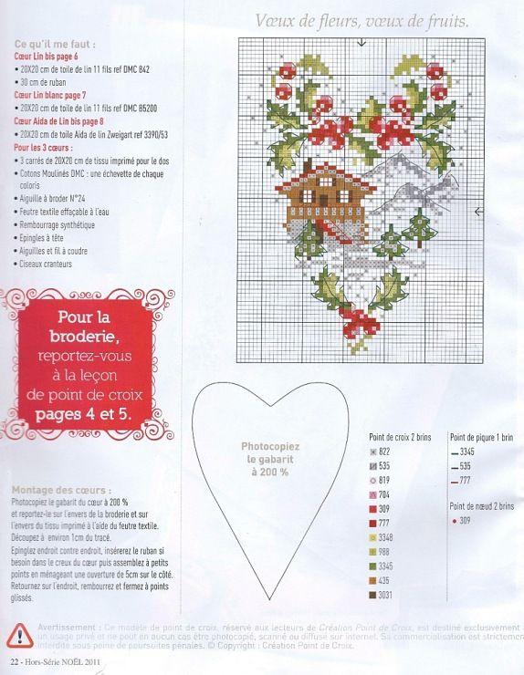Seasons heart cross stitch