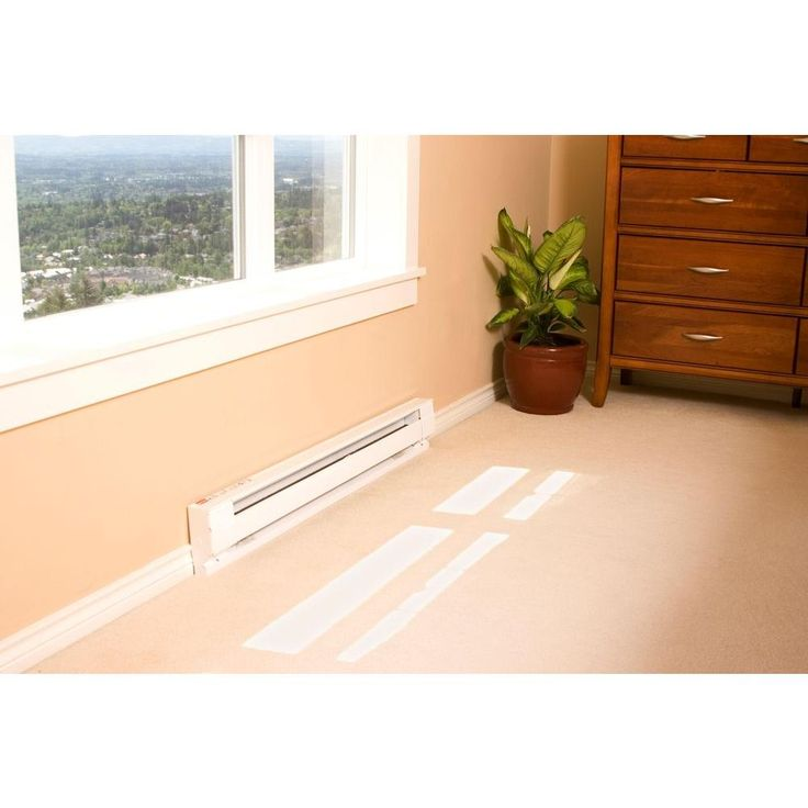 Cadet 96 in. 2,000/2,500-Watt 240-Volt Electric Baseboard Heater in White