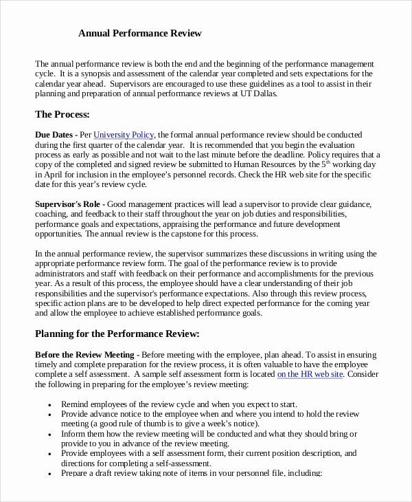Annual Performance Review Template Best Of 8 Sample Performance Reviews Performance Reviews Lesson Plan Book Templates Plan Book Template