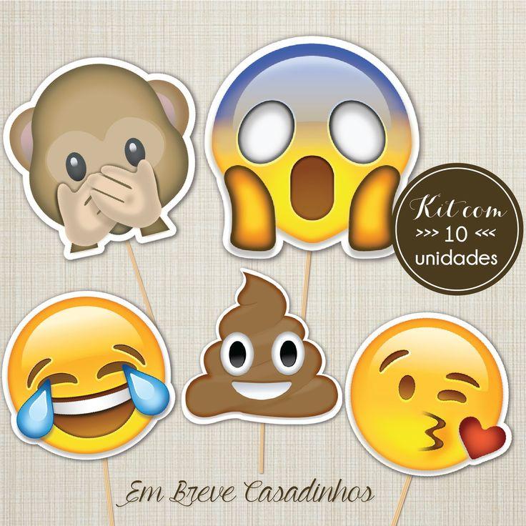 Plaquinha Emoji, emojis, plaquinhas de casamento. Compre pela loja: www.loja.embrevecasadinhos.com.br =)