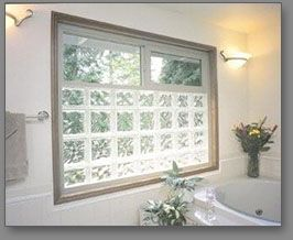 I like the idea of glass block for the window that we have right above our bathtub with clear glass up high to be able to look out.