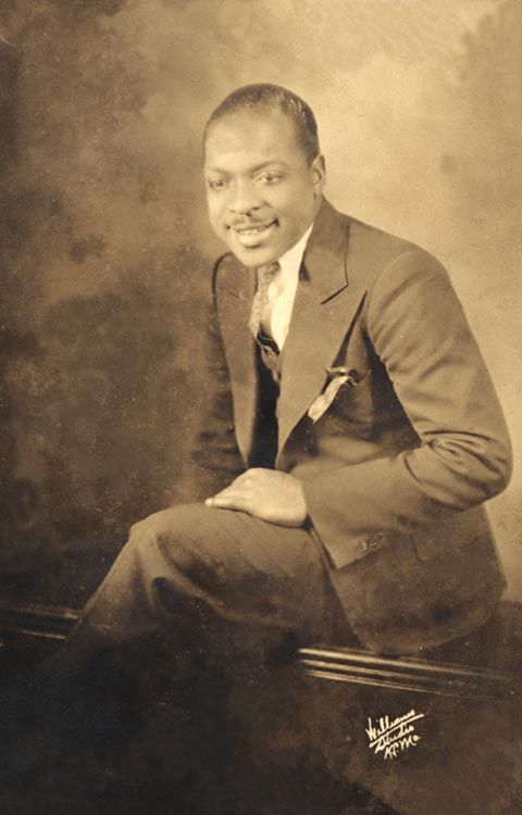 A very young Count Basie,possibly taken about the time of his arrival in Kansas City, having come by way of the T.O.B.A. vaudeville circuit(Theatre Owners Booking Association) and now employed as the house organist at the Eblon Theatre.