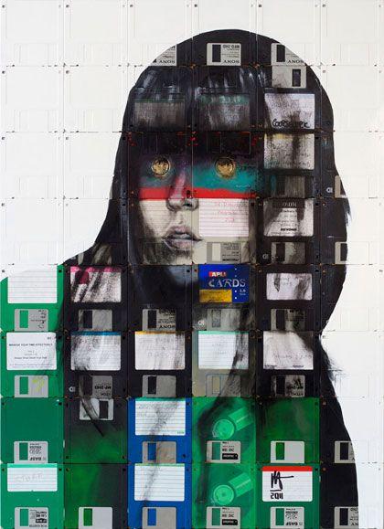 Floppy disk art by Nick Gentry - Blog of Francesco Mugnai