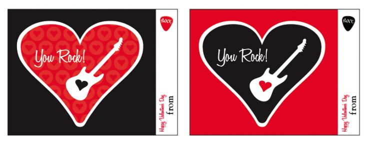 You Rock Valentines Day Tags by Amy Locurto at LivingLocurto.com