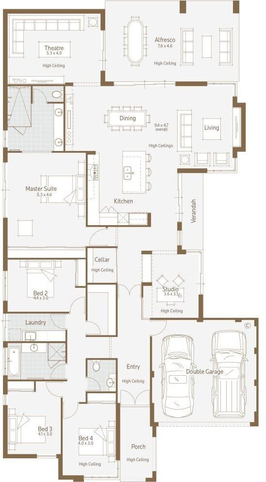 Abbey Road Display Home - Lifestyle Floor Plan