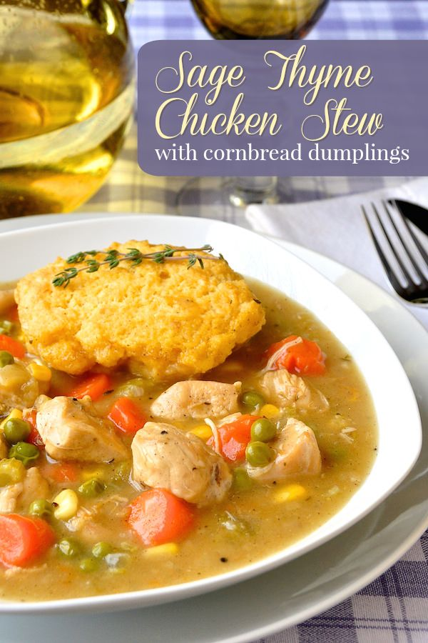 An easy to make chicken stew that's ready in only about 2 hours with fresh herb flavours to enhance the rich gravy. The cornbread dumplings are the perfect addition to this satisfying comfort food meal.