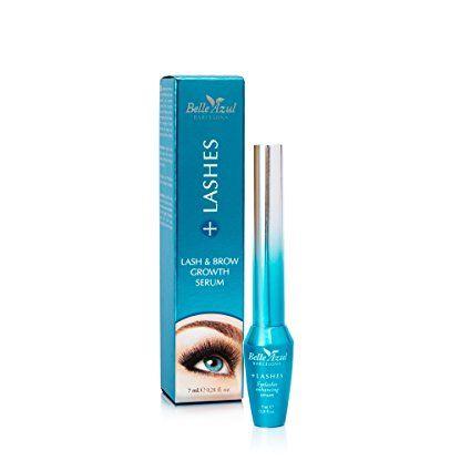 Belle Azul + Lashes - Serum alargador de pestañas. Nutre, fortalece y potencia el crecimiento, grosor y espesor de las pestañas. 7ml