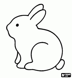 Rabbit Side View Coloring Page