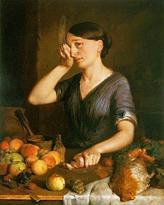 Lilly Martin Spencer (1822 – 1902) Peeling Onions