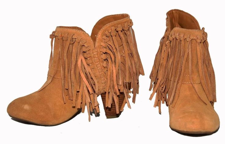 Nine West Vintage American Collection 'Runyon' Tan Suede Western Women Boots 7M