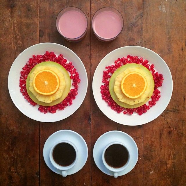 Symmetry breakfast has been around for a few years now. Here are some of our favourites on Instagram that prove eating breakfast symmetrically is the best way to eat breakfast.