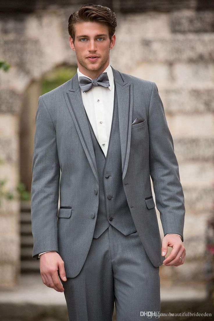 2016 New Arrival Under 100 Grey Handsome Mens Complete Designer Tuxedo/Bridegroom Prom Groom Tuxedos Boys Suits Men Suits From Beautifulbrideeden, $91.8| Dhgate.Com