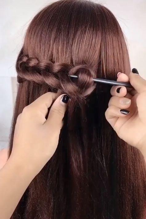 So creative 😍😍 #HairStylesUpdos  #HairStylesColor  #HairStylesBlackgirl  #HairStylesTutorials  #ThickHairStyles  #HairStylesForQuinceanera  #HairStylesMen