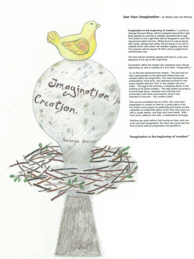 Use Your Imagination - By Becky and Joe Morine - Sponsored by- Marcia and Craig Kingery