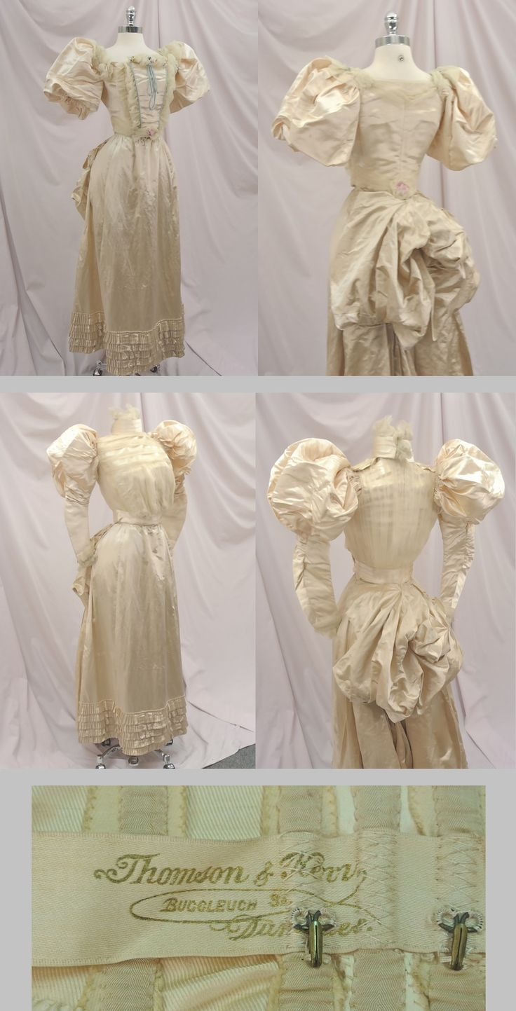 White pinafore apron ebay - Find Best Value And Selection For Your Victorian Silk Huge Puff Sleeves Wedding Ballgown Bustle Dress Search On Ebay World S Leading Marketplace