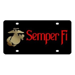 Marines Semper Fi License Plate: Marines Semper, Marine S