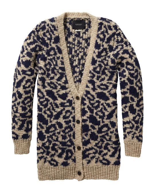 We updated our animal print in this cool knitted cardigan.