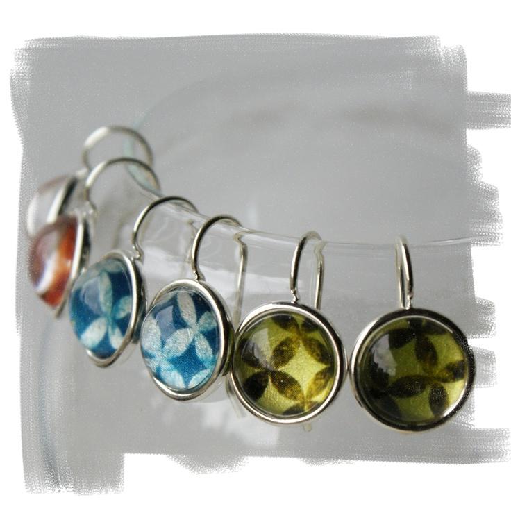 Pacifica earrings - lagoon, lime, tangerine and pink  https://www.facebook.com/Bellbirddesign