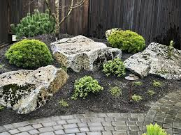 83 best Stonescapes images on Pinterest | Boulder landscape ... Dwarf Conifer Rock Garden Design Id E A on