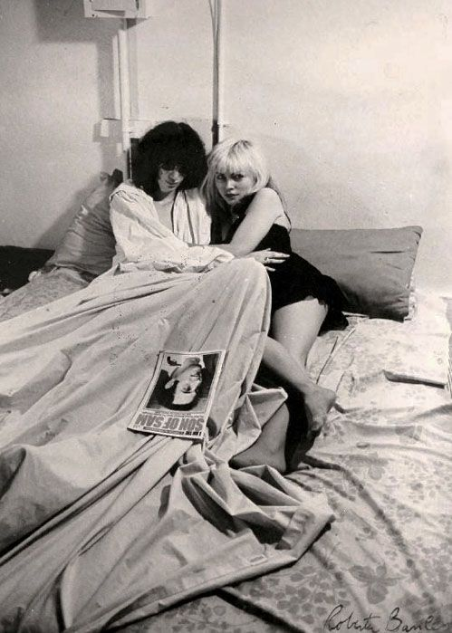 "Ramones- Joey and Debbie Harry""spread for Punk Magazine, 1977...                                                                                                                                                     Plus"