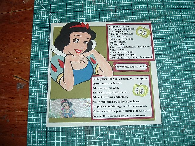 Disney 6x6 Recipe Card by cricutqueen - Cards and Paper Crafts at Splitcoaststampers