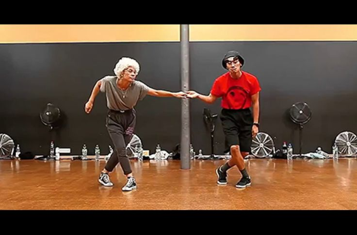"""""""Elderly"""" couple dances to Bob Marley's """"Is This Love""""."""