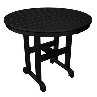 """POLYWOOD® Round Dining Table Finish: Black, Table Size: 36"""""""