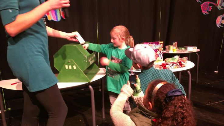 Annabelle drawing the raffle