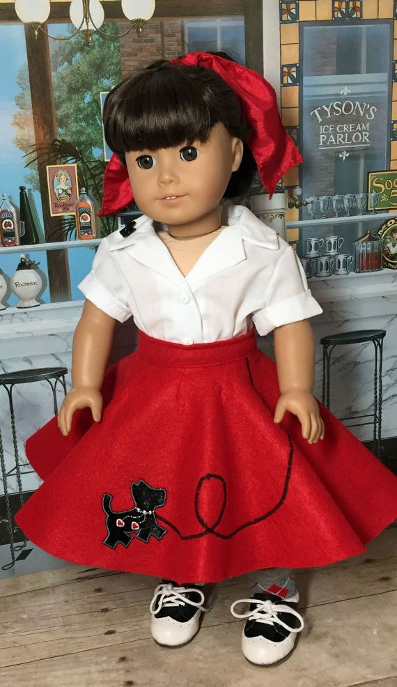 18 inch Doll Clothes  Scottie Dog 50s Outfit by nayasdesigns