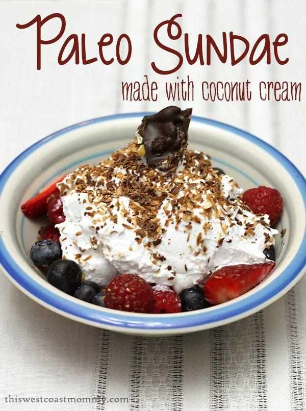 "Paleo ""Sundae"" - Perfect recipe for doing Whole30 if you love ice cream!"