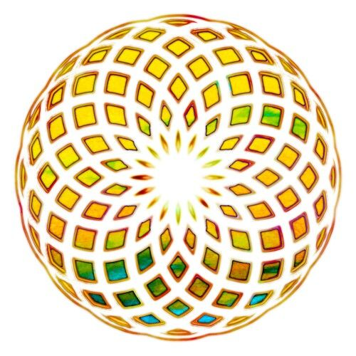 This was the first Flower of Life project that launched me into this new digital art series. http://scottyvineart.deviantart.com #Mandala #Torus #SacredGeometry #OpticalIllusion