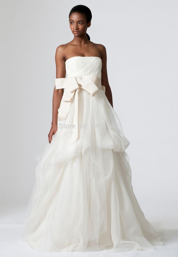 На Заказ Новые Свадебные Платья Без Бретелек Линия Pleat Органзы Лонг Винтаж Свадебное Платья На Складе Vestido Noiva