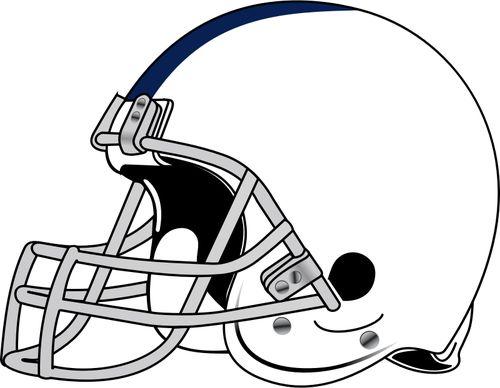 Dibujo vectorial de casco de jugador de fútbol americano. Vectores de  dominio público.  00abda562c570