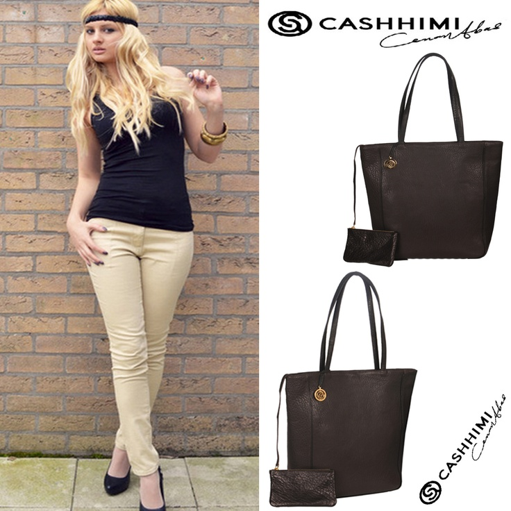Cashhimi Black SANTA BARBARA Leather Clutch