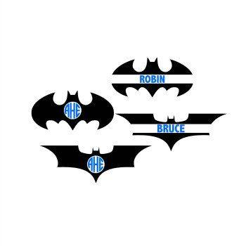 Batman Monogram Svg Batman Svg Batman Cutting File Superhero Svg Cricut Files Silhouette Files