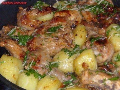 Курочка в кефире 1.Курицу разрезать на порционные кусочки+соль,перец.…