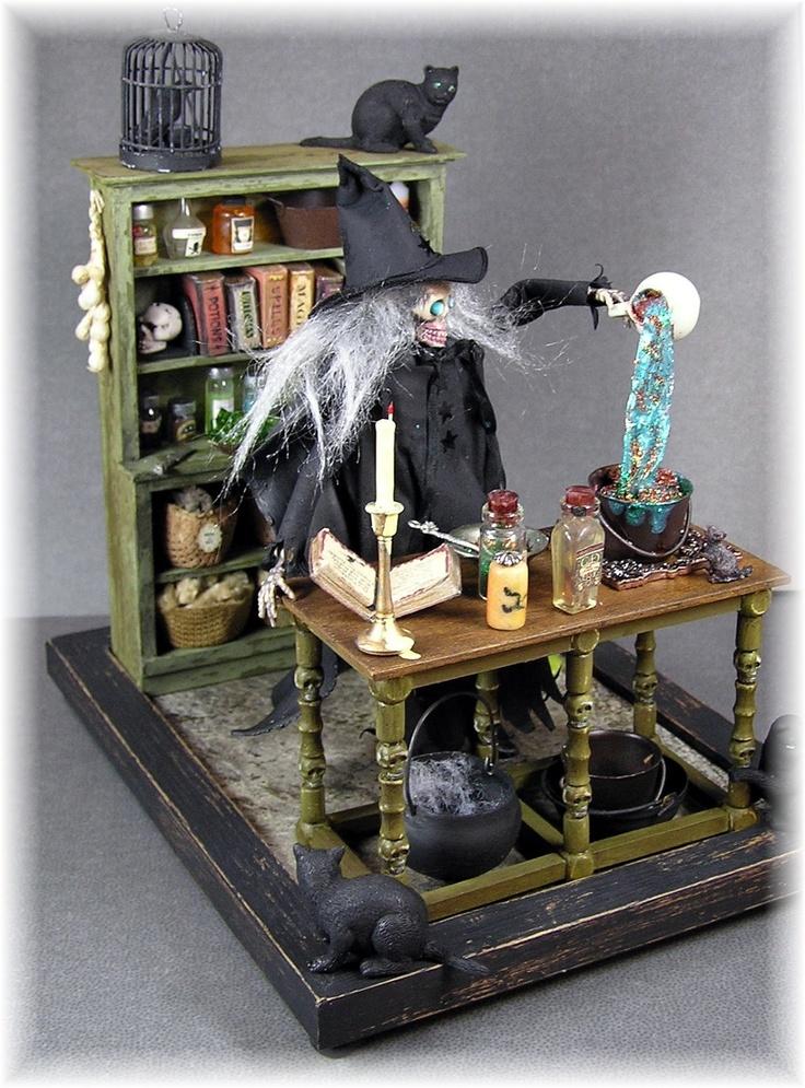 DYI DOLLHOUSE MINIATURES Halloween miniature