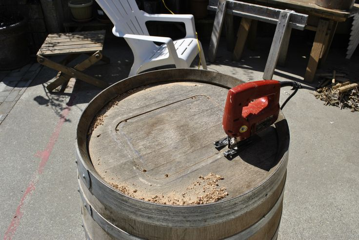 how to cut a barrel in half