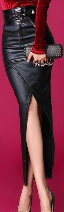 Leather Skirt- ♔