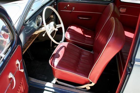 vw beetle kabriolett in 55 interior color sample 2 ideas mercury 1955 pinterest. Black Bedroom Furniture Sets. Home Design Ideas