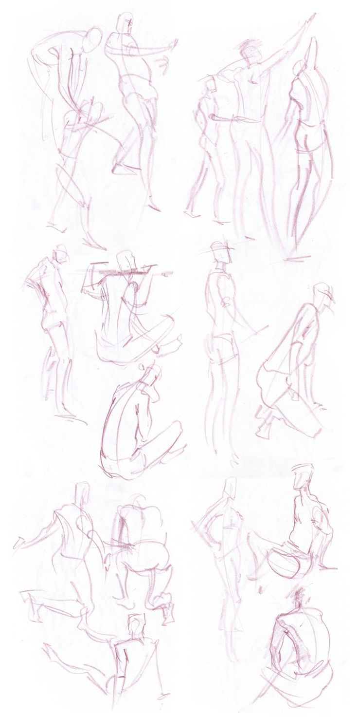 Lifedrawing session sketches