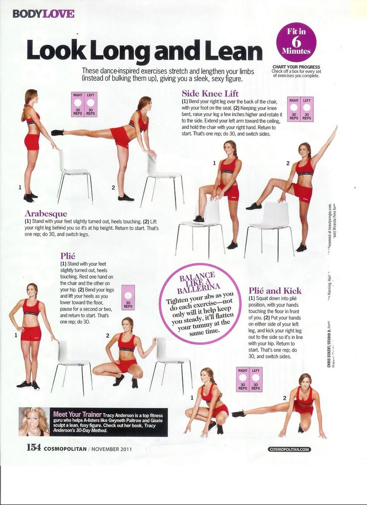 Long & Lean; Tracy Anderson Method in Cosmopolitan; Fit in 6 minutes column