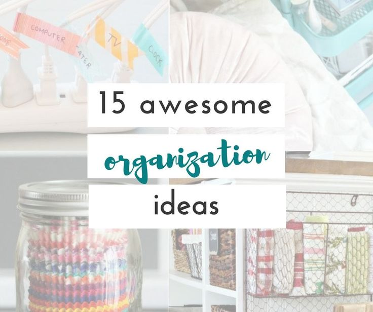 These are such great ideas to get the house organized. I'm really excited to try some of these organization ideas.