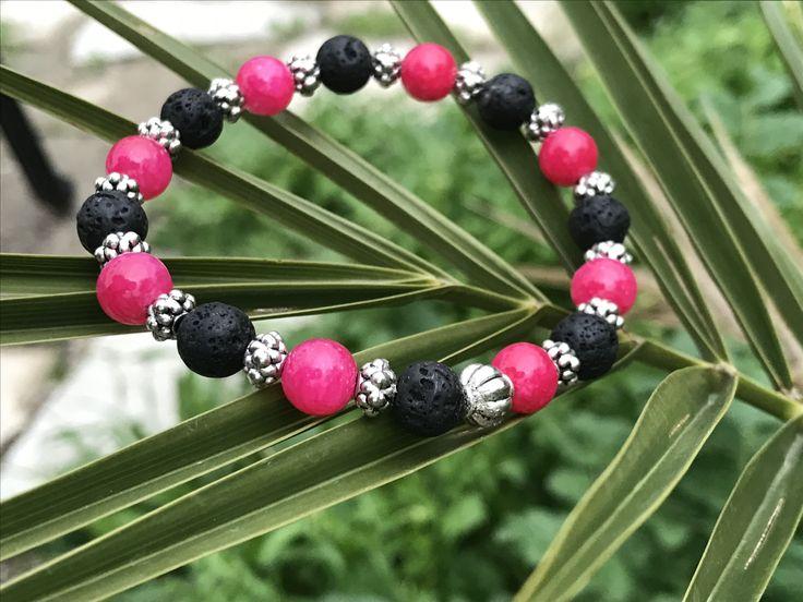 Gemstone & Lava Rock Aromatherapy bracelet